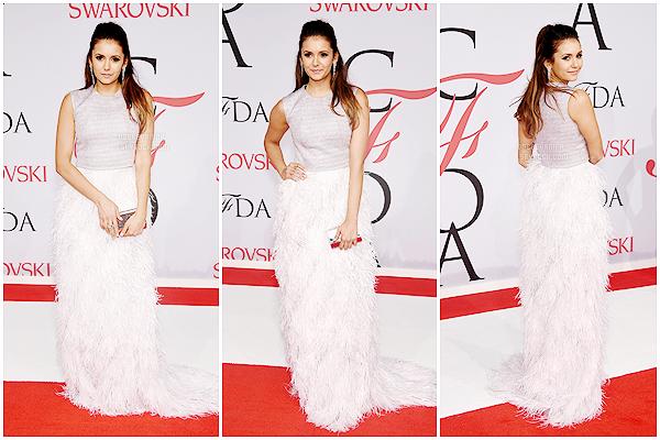 .   01/06/15 : Notre belle Nina était à l'événement   « CFDA Fshion Awards 2015» à New York ! Au top notre Nina. .