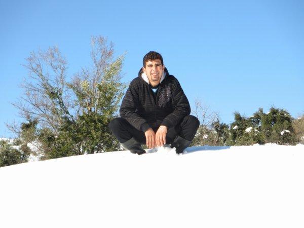la beauté de neige sous soleil