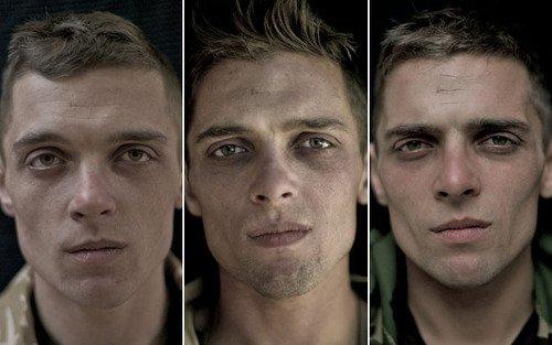 Un soldat, avant, pendant et après la guerre en Afghanistan.