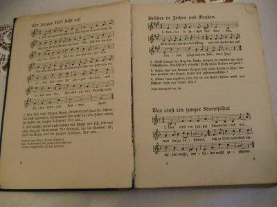 livre de chant Allemand