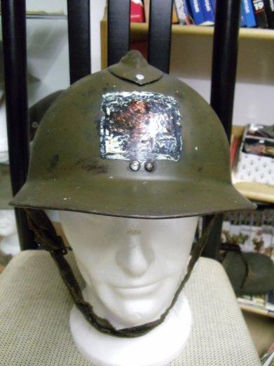 casque Adrian Mdl 26 avec croix rouge