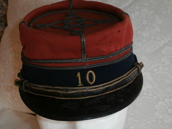 képi lieutenant 10éme régiment infanterie 14-18