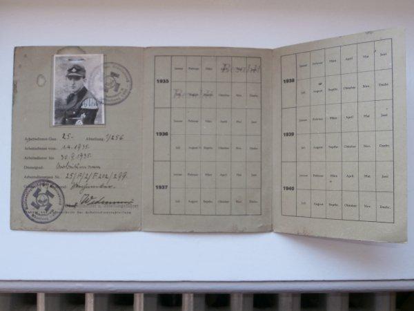 Arbeits Dank carte de menbre RAD 1935
