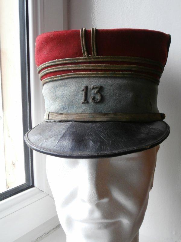 Képi de capitaine du 13 ème chasseur à cheval  ww1