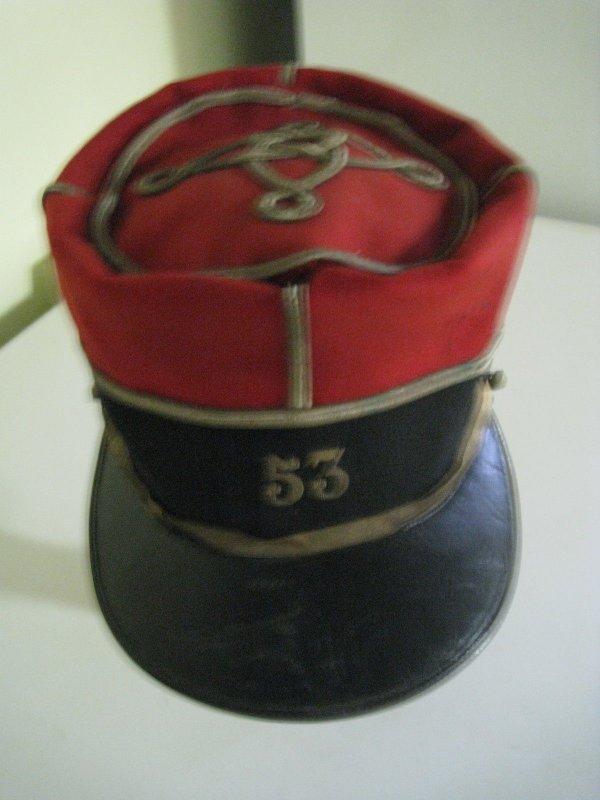 Képi foulard d'un adjudant chef du 53éme Régiment d'infanterie ww1