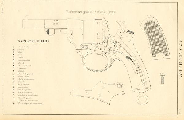 revolver Chamelot Modéle 1873 infanterie