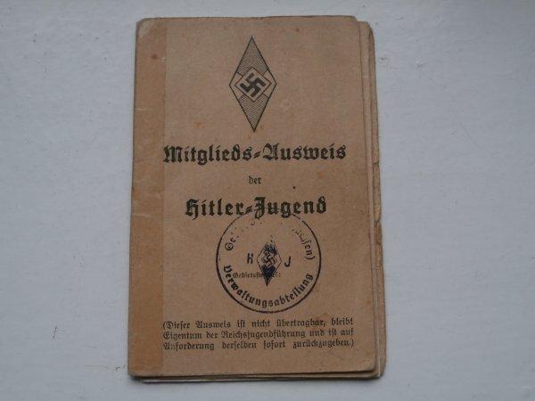 carte de membre de la jeunesse Hitlérienne