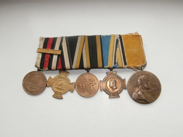 Barette de 5 médailles Prussienne  ww1