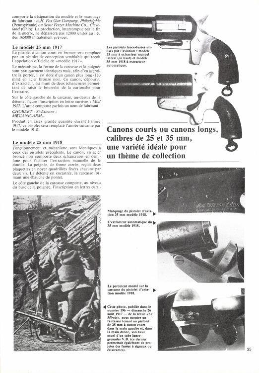 Pistolet lance fusées Français  modéle 1917 GG&Cie
