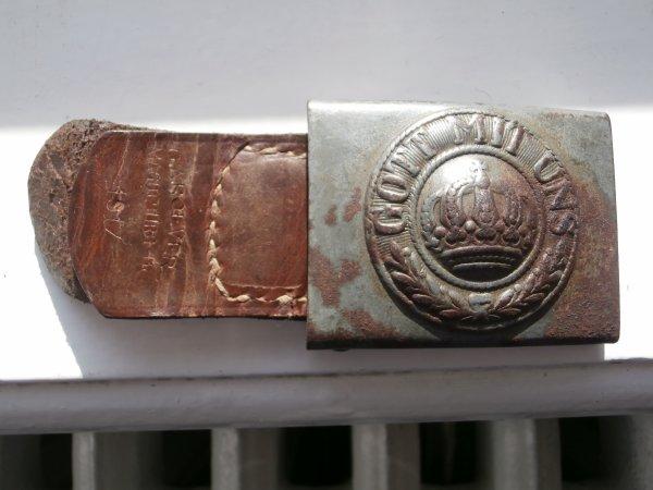 boucle de ceinturon avec ça palette daté 1917
