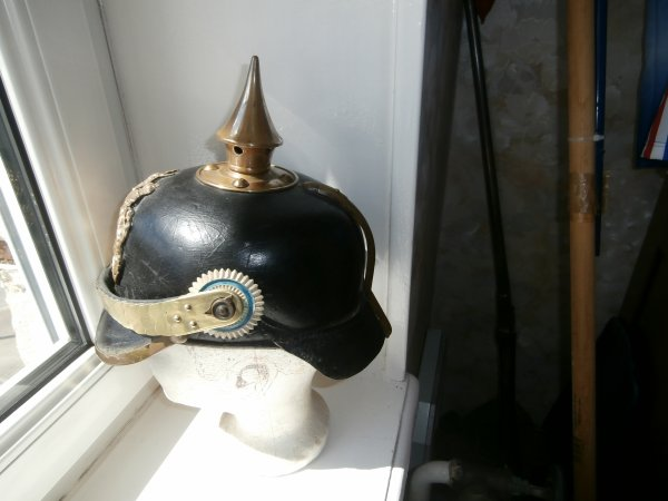 casque a pointe Bavarois modéle 1895