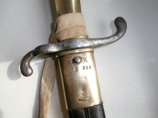 Baïonnette Allemande (Prusse) mle 1871  Régimenté 37.R8.210