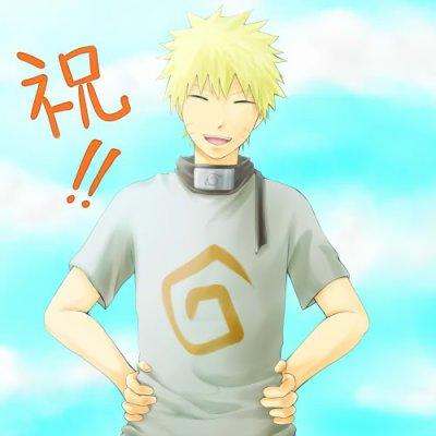 Naruto laughing.
