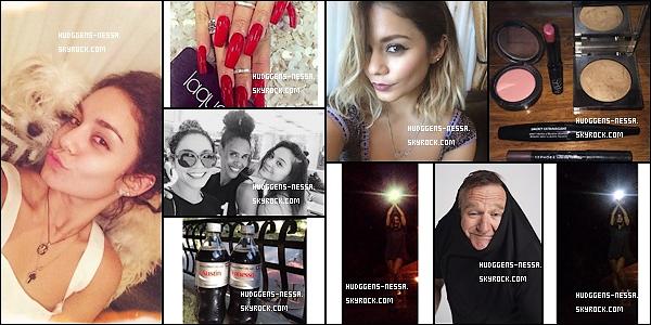 INSTAGRAM & TWITTER : Derniere photo poster sur le compte Instagram & Twitter de Vanessa !