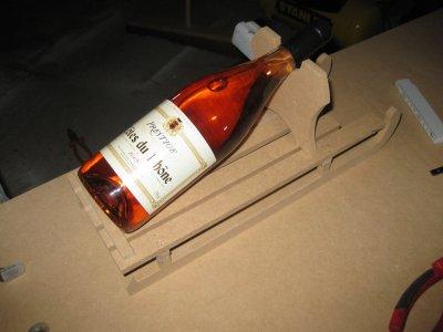 traineau porte bouteille