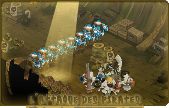 L'attaque des pirates.