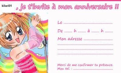 Bien connu carte invitation anniversaire kilari - Blog Etre adulée de tous  UF29
