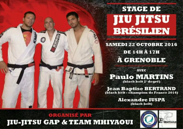 Stage De Jiu Jitsu Brésilien ce samedi...
