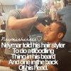 Neymar a dit à son coiffeur de griffonner quelque chose dans sa barbe et à l'arrière de sa tête*
