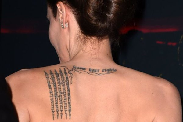 "angelina""s tattoo $ know your rights$"