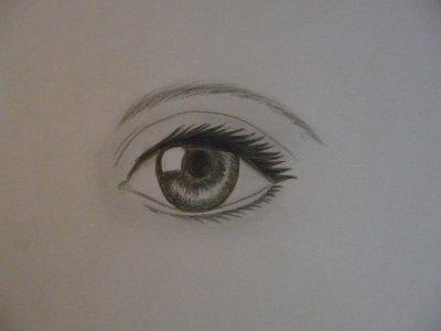 Oeil r aliste ma galerie de dessins - Dessin oeil facile ...