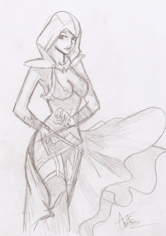 Un Dessin By Nitouille Assassin S Creed Version Fille Rewind The Memories Fastfoward The Drama P