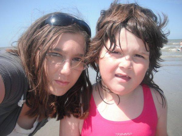moi  et ma tite soeur wivine