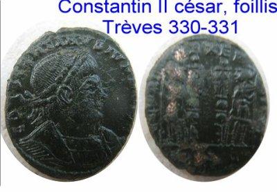Constantin II césar, foillis Trèves 330-331