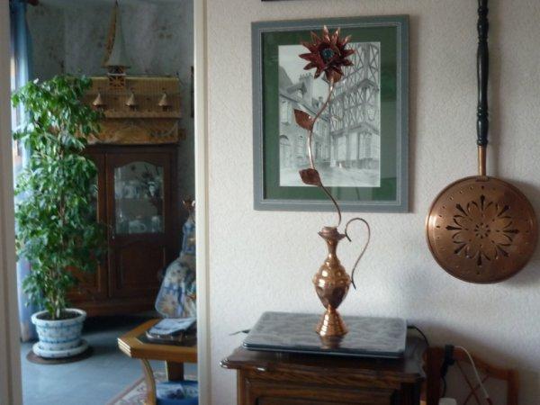 Fleurs en cuivre fait main pour Florence mon ami un souvenir pour toi!!!