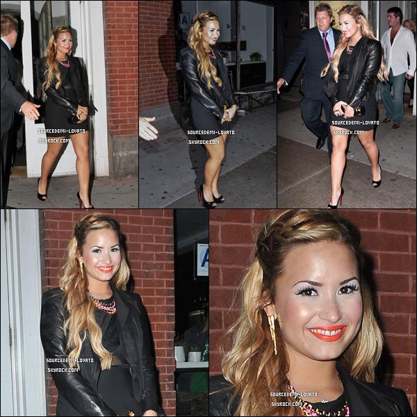 . Le14/05/12/. Demi à assister au Fox's Upfront-Event ou elle a été officiellement Jury de X-Factor.