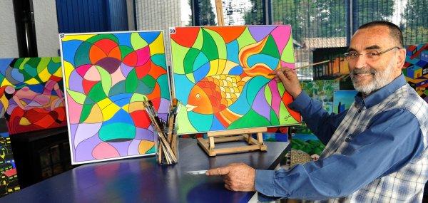 L'artiste au travail, pose pour SUD-OUEST