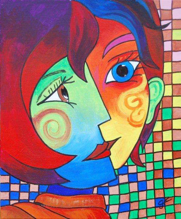 TOI ET MOI  façon Picasso