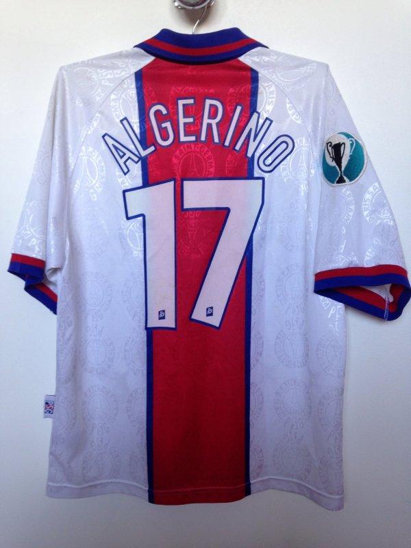 Maillot algerino finale coupe d 39 europe des vainqueurs de coupe barcelone psg saison 1996 1997 - Final coupe d europe 2008 ...