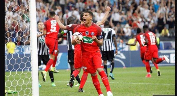 Maillot MARQUINHOS. Finale de la coupe de France. Angers/PSG. Saison 2016/2017.