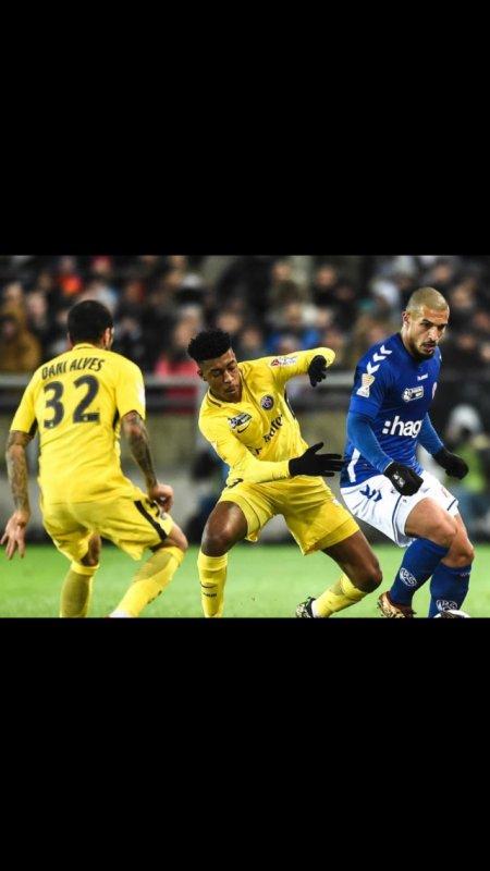Maillot KIMPEMBE. Coupe de la ligue. Strasbourg/PSG. Saison 2017/2018.