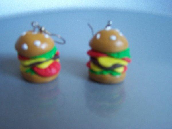 Mes petite boucles d'oreille Hamburger