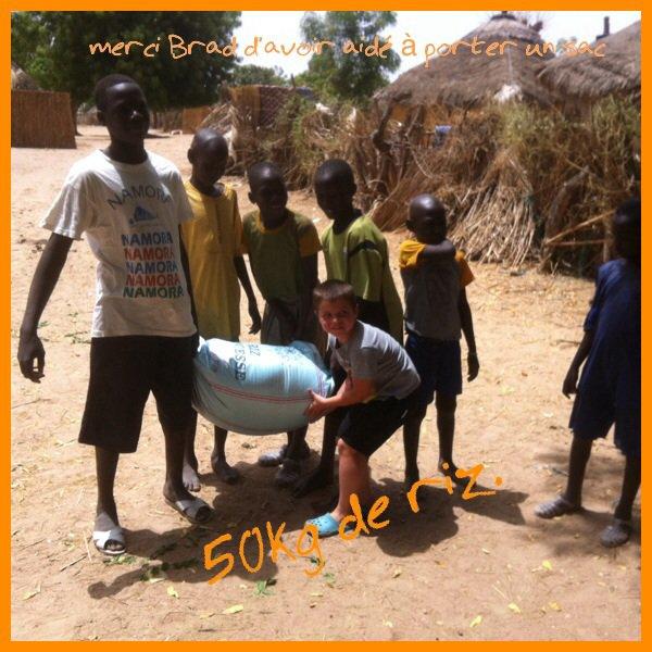 Village de brousse au Sénégal
