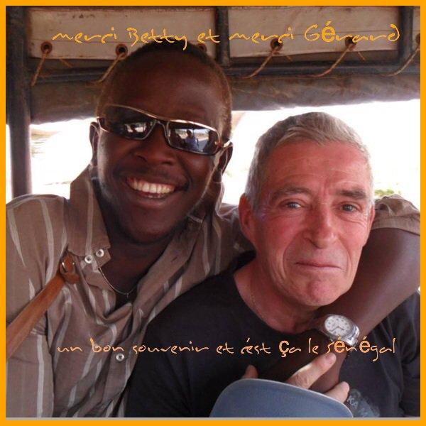 Les ch'tis sénégaulois à nous revoir au pays de la TERANGA merci Gérard et merci Betty