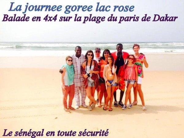 La Journée  Gorée lac rose avec nos amis de Saly