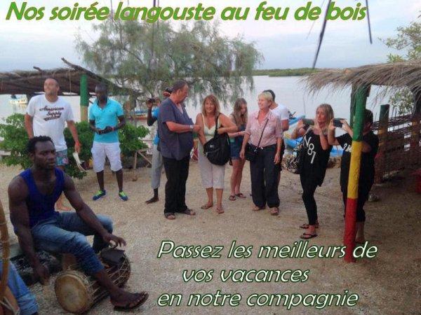 Senegal excursions vous propose des soirées langouste au départ du royal baobab somone