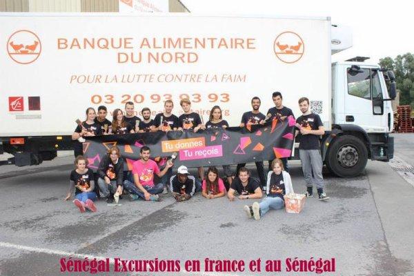Lors de Notre séjour dans le Nord de la France Une journée à la Banque Alimentaire pour la construction d'un potager et le trie des Denrées Alimentaire. Sénégal excursions en France et Au Sénégal et Toujours dans le partage