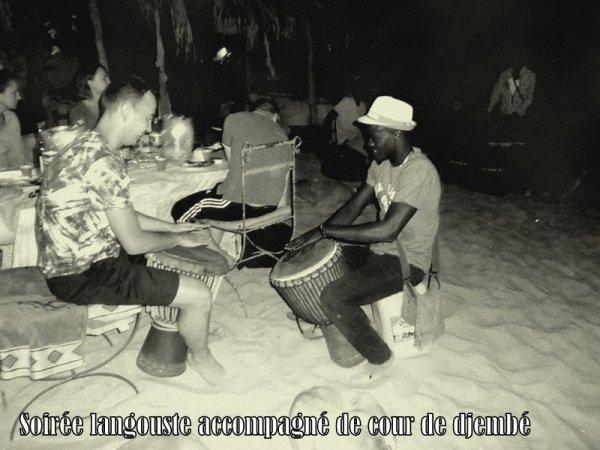 SOIREE LANGOUSTE AU SENEGAL SOMONE NIANING SALY AVEC SENEGAL EXCURSIONS