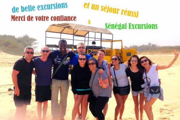Excursions au départ de l'hotel lamantin beach Saly Sénegal Merci a nos amis de votre confiance