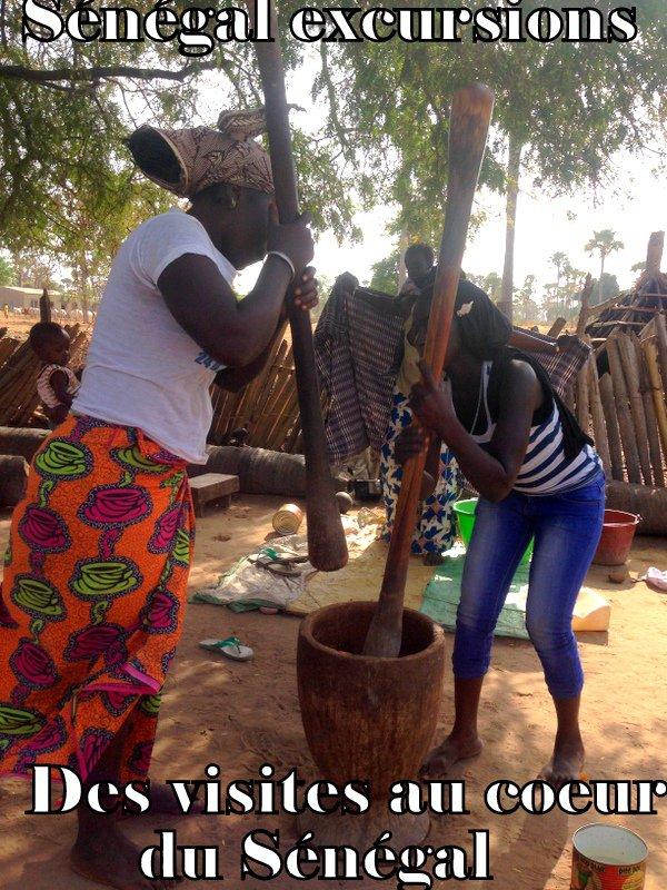 excursions au Sénégal journée brousse et village au Départ du royal baobab somone