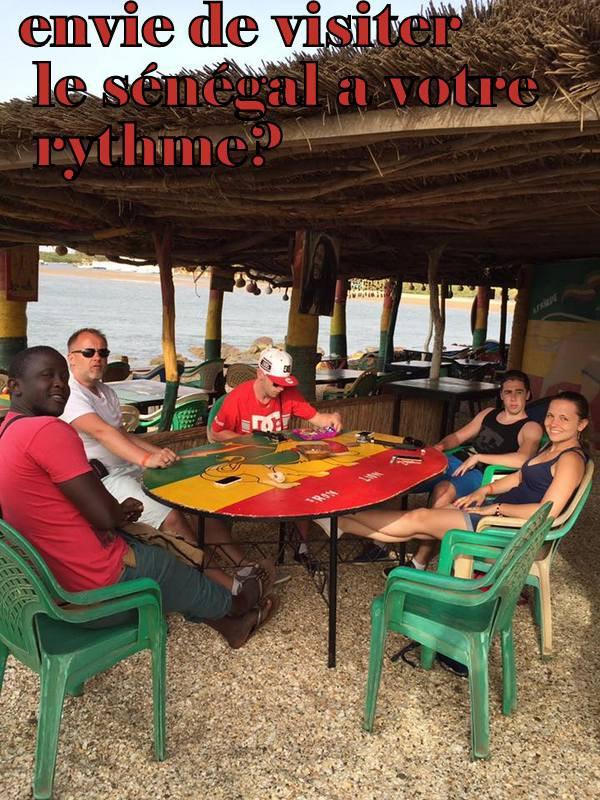 balade sur la lagune de la somone avec nos amis normands de l'hotel filaos saly sénégal