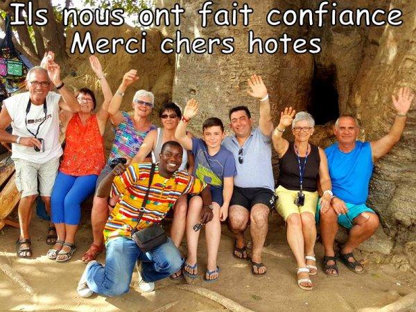 MERCI A NOS AMIS DE L'HOTEL PALM BEACH SALY SENEGAL