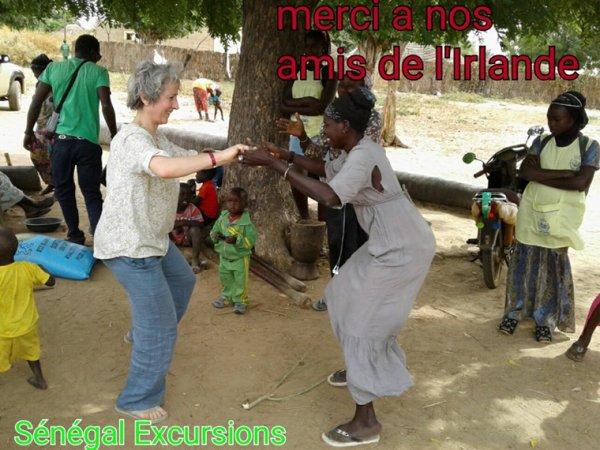 Une belle journée dans le delta du sine et saloum avec nos amis d'Irlande du royal baobab