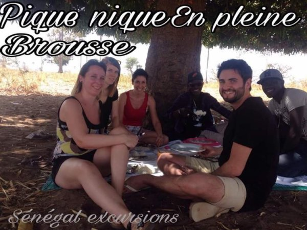 journee en brousse picnic sous les manguiers merci de votre confiance à SENEGAL EXCURSIONS