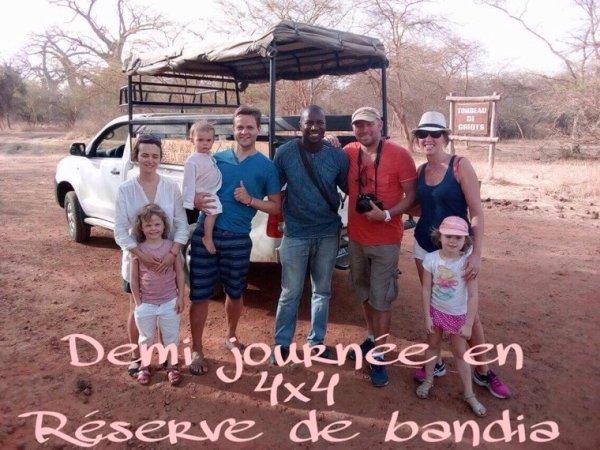 Demi journee réserve de bandia avec nos amis du royal baobab à la somone