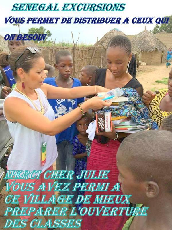 Chez les peuls merci Julie de ta gentillesse et ta générosité, les meilleurs au départ de Saly